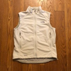The North Face White Fleece Vest
